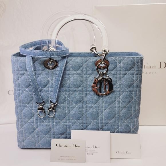Christian Dior Lady Dior Denim Bag